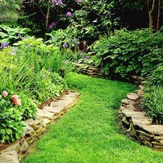 This stacked flagstone border to go around my hydrangea garden.