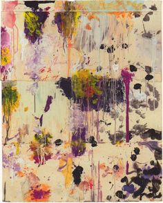 Cy Twombly (American, 1928-2011), Untitled, 2001. Acrylic paint, wax crayon, pencil, collage on paper, 124 x 99 cm