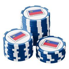 #Liechtenstein Set Of Poker Chips - #country gifts style diy gift ideas