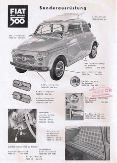 Fiat Cinquecento, Fiat 600, Car Advertising, Small Cars, Historical Pictures, My Ride, Old Cars, Car Pictures, Motor Car