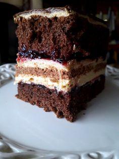 Takie tam moje pomysły: Ciasto z kremem kajmakowym Cake Tasting, Tiramisu, Cheesecake, Baking, Ethnic Recipes, Easy, Cakes, Food, Kuchen