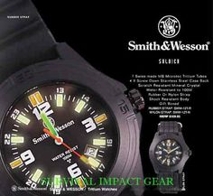 The folks at Smith & Wesson know what it means to build gear that lasts.  Like this rugged Soldier Watch, developed for real-life heroes looking for a tough timepiece  that is capable of handling all-conditions of outdoor wear. $89.00