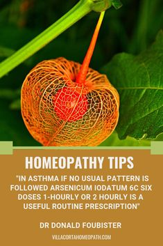 Herbal Medicine Arsenicum Iodatum for Asthma by Dr Foubister Natural Cancer Cures, Natural Cures, Natural Health, Alternative Health, Alternative Medicine, Natural Medicine, Herbal Medicine, Homeopathy Medicine, Asthma Relief
