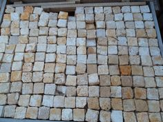 Travertine 2x2 pavers amazing as a driveway or around a pool area.