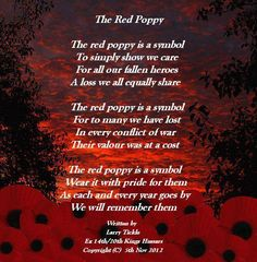 Poppies for veterans Remembrance Day Quotes, Remembrance Day Activities, Remembrance Sunday, Red Poppies, Communication And Language Activities, Veterans Day Quotes, Remember The Fallen, Armistice Day, Souvenir