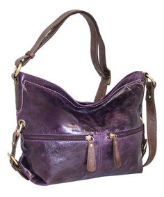 Look at this #zulilyfind! Violet Hollywood Leather Hobo by Nino Bossi Handbags #zulilyfinds