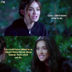 """#PLL 7x18 """"Choose or Lose"""" - Aria and Emily"""