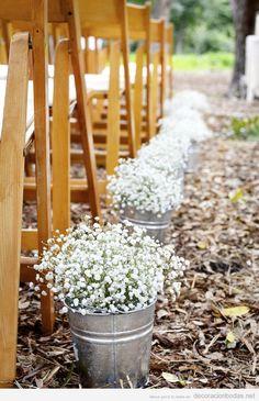 Ideas baratas para decorar ceremonia de boda low cost