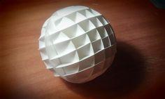 Как сделать шар из листа бумаги