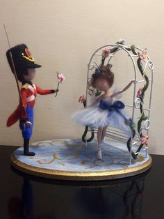 """Needle felted doll,Waldorf inspired, Wool doll, Fairy tale, Fable """"The Steadfast Tin Soldier"""",Doll miniature,Soft sculpture, Art doll"""