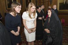 Princess Eugenie and Princess Beatrice speak with Princess Sabeeka of Bahrain  at Windsor Castle, May 18, 2012