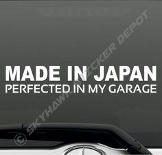 Made In Germany Vinyl Bumper Sticker Decal German Car Hatchback BMW Benz Turbo