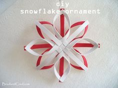 DIY Christmas Ornament - Snowflake Ornament