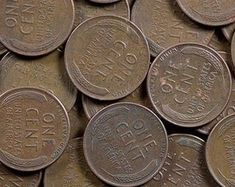 1969 D Penny Floating Roof No F G Etsy In 2020 Wheat Pennies Rare Coins Worth Money Penny