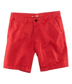 Twill chino shorts in red