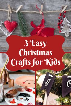 Christmas is coming! In this post, you will find 3 easy Christmas Crafts for Kids! A creative way to enjoy the Christmas holiday atmosphere with your child! Christmas Crafts To Make, Simple Christmas, Winter Holidays, Christmas Holidays, Christmas Ornaments, Christmas Is Coming, Diy For Kids, Your Child, Schools
