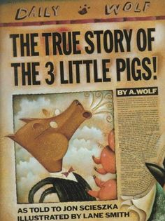 A spoof on the three little pigs story, this time told from the wolf's point of view. Lane Smith also illustrated Hallowe'en ABC which was one of The New York Times Best Illustrated Books of the Year.