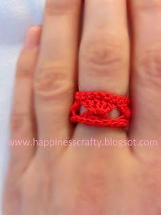 Broomstick Lace Ring ~ Free Crochet Pattern ✿⊱╮Teresa Restegui http://www.pinterest.com/teretegui/✿⊱╮