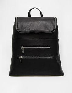 Image 1 ofASOS Chunky Zip Backpack with Zip Pocket