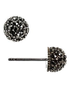 Sterling Silver & Crystal Stud Earrings | Lord and Taylor