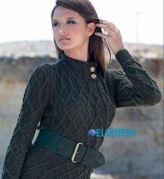 Шикарный свитер с аранскими жгутами в винтажном стиле от Lana Gatto вязаный спицами   Блог elisheva.ru