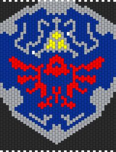 Hyrule Shield Legend Of Zelda Panel bead pattern