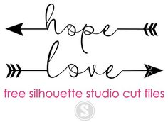 Hope and Love Arrows: Free Silhouette Studio Cut Files ~ Silhouette School