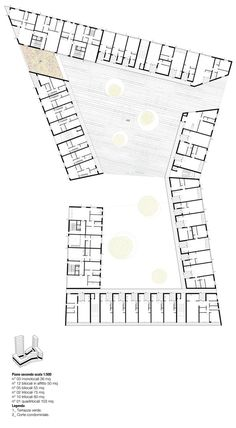 Social Housing in Milan / StudioWOK,second level plan