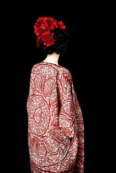 red decorated coat (Giambattista Valli; photo by Erik Madigan Heck - happybuddhabreathing)