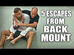 Jiu-Jitsu Escapes   5 Ways Out of Back Mount - YouTube