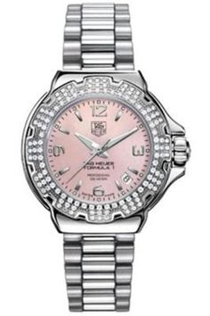 TAG Heuer Womens WAC1216BA0852 Diamond Pink Dial Formula One Watch -- Click on the image for additional details.
