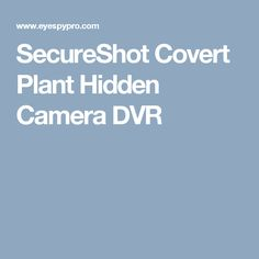The SecureShot Covert Plant Hidden Camera is a battery operated stealthy spy camera that is designed to record what people are doing home or the office. Spy Devices, Hidden Camera, Spy Camera, Plants, Spy Cam, Plant, Planets