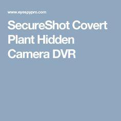 SecureShot Covert Plant Hidden Camera DVR