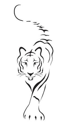 White Tiger Mining Pencil Art Drawings, Art Drawings Sketches, Animal Drawings, Easy Drawings, Tiger Artwork, Tiger Drawing, Tiger Tattoo, Silhouette Art, Stencil Art