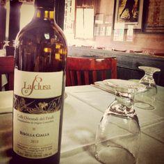 One of our summer's favorite! Ribolla Gialla La Sclusa from Friuli Venezia Giulia! Wines, Bottle, Flask, Jars