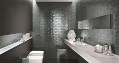 BROOKLYN CARBON - Designer Ceramic tiles from Fap Ceramiche ✓ all information ✓ high-resolution images ✓ CADs ✓ catalogues ✓ contact information. Subway Tiles, Wall Tiles, Mosaic Wall, Wall Finishes, Wall Wallpaper, Perth, Picture Wall, Tile Floor, Brooklyn
