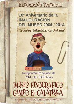 Diseño de cartel realizado para conmemorar el 10 Aniversario del Museo Etnográfico de Almagro.
