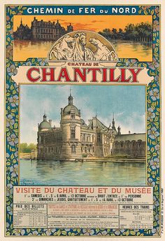 GUSTAVE FRAIPONT (1849-1923). CHATEAU DE CHANTILLY. Circa 1895. 42x29 inches, 106x75 cm. F&M Moreau, Paris.