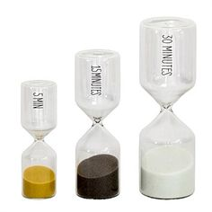 Living & Giving - UBU Hour Glass Set of 3
