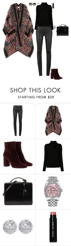 """Flashy look"" by stylev ❤ liked on Polyvore featuring Yves Saint Laurent, Chloé, Prada, A.L.C., Mark Cross, Rolex, Allurez, Bobbi Brown Cosmetics and Moschino"