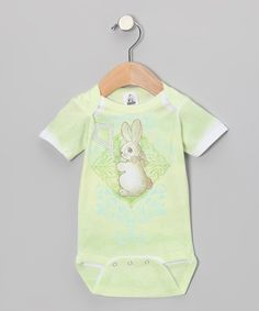 Love this Lime Bunny Vintage Bodysuit - Infant by Clever Birds on #zulily! #zulilyfinds