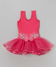 Look at this Wenchoice Hot Pink Butterfly Skirted Leotard - Infant, Toddler & Girls on today! Infant Toddler, Toddler Girls, Infant Girls, Dance Gear, Ballet Clothes, Glam Girl, Pink Sequin, Girl Dancing, Little Princess
