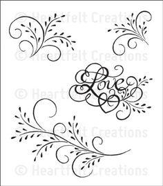 Feather Grass Flourish -- design to quill Arabesque, Royal Icing Templates, Bordado Floral, Border Pattern, Scroll Design, Heartfelt Creations, Stencil Designs, Pyrography, Swirls