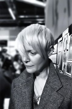 attending Costume National's F/W '13 show backstage