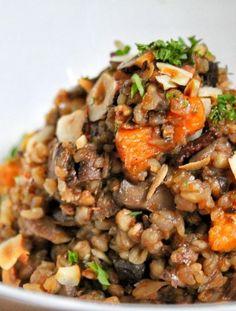 Vegan buckwheat mushroom risotto recipe