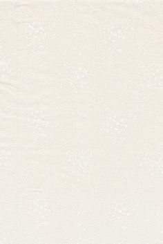Bomuld m/blomster off-white/hvid