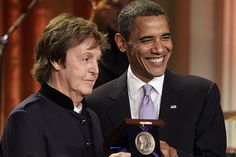 Paul McCartney receives the Gershwin Prize from President Obama at the White House, June 2, 2010.