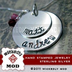 Personalized Necklace - Mother Necklace - Custom Name Jewelry - Silver Jewelry - Hand Stamped Jewelry - CAMILLE