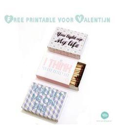 Verras jouw Valentijn op een originele manier!Leuke gratis printable wikkels voor luciferdoosje om jouw Valentijn op een originele manier te verrassen! Klik snel op de link voor de wikkel en het bijbehorende kaartje en print uit!Fijne Valentijn!