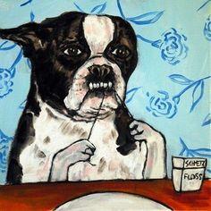 #flossing dog